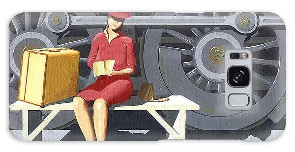 Woman With Locomotive Galaxy Case