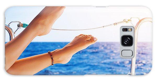 Women's Feet On The Yacht Galaxy Case