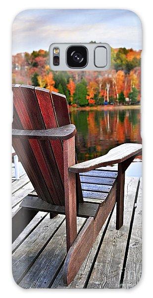Adirondack Chair Galaxy Case - Wooden Dock On Autumn Lake by Elena Elisseeva