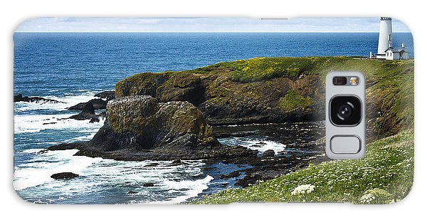 Yaquina Head Lighthouse Galaxy Case by Carrie Cranwill