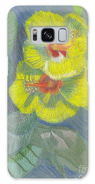 Yellow Hibiscus Galaxy Case