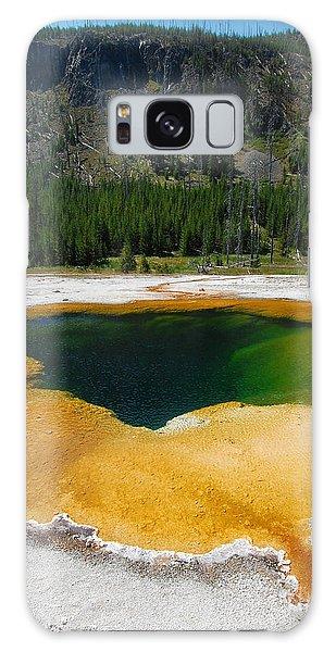 Yellowstone Emerald Pool Galaxy Case by Debra Thompson
