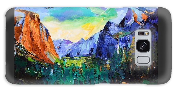 Yosemite Valley - Tunnel View Galaxy Case by Elise Palmigiani