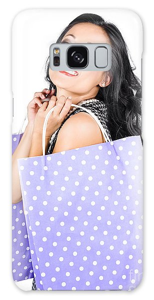 Vivacious Galaxy Case - Young Chinese Woman Walking With Shopping Bags by Jorgo Photography - Wall Art Gallery