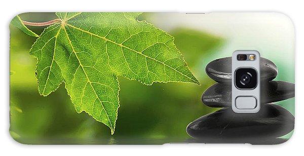 Zen Stones On Water Galaxy Case
