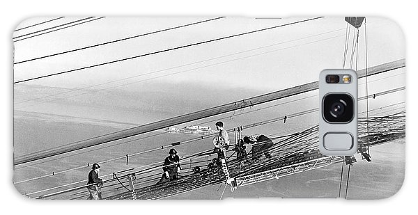 Catwalk Galaxy S8 Case - Golden Gate Bridge Work by Underwood Archives