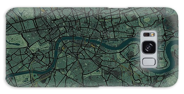 England Galaxy Case - London England Street Map by Michael Tompsett