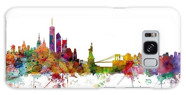 New York Skyline Galaxy Case by Michael Tompsett