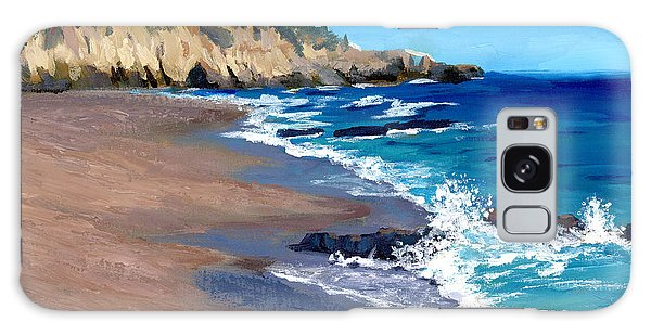 1000 Steps Beach In Laguna Beach California Galaxy Case by Alice Leggett