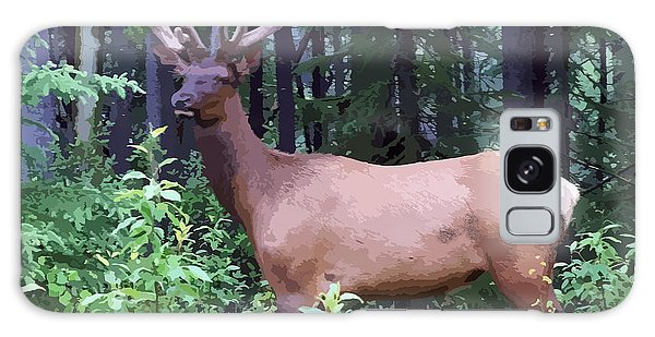 100_0547 Young Bull Elk In Albert Canada Galaxy Case
