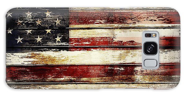 Weathered Galaxy Case - American Flag 33 by Les Cunliffe