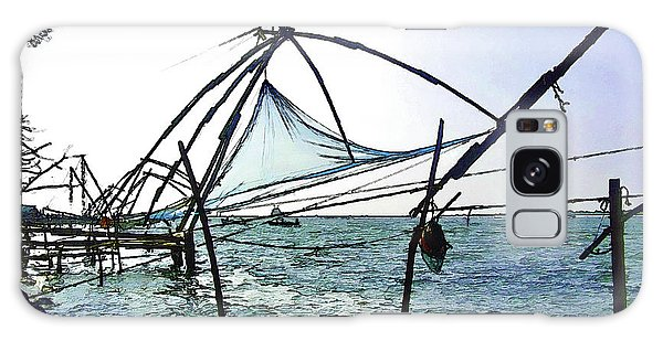 Fishing Nets On The Sea Coast In Alleppey Galaxy Case