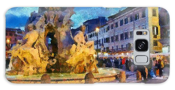 Piazza Navona In Rome Galaxy Case