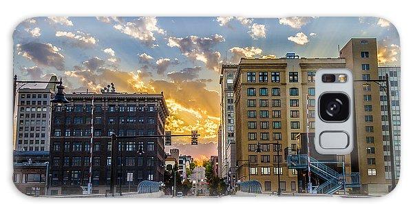 11 Th St. Bridge Sunset Tacoma Wa Galaxy Case by Rob Green