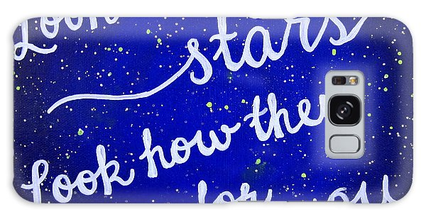 11x14 Look At The Stars Galaxy Case