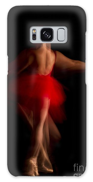 Ballet Dancer In Red Tutu Galaxy Case