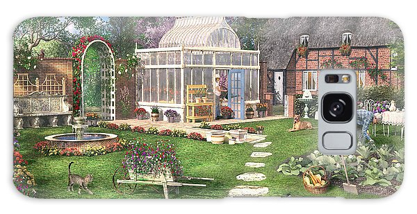 Cottage Galaxy Case - The Cottage Garden by MGL Meiklejohn Graphics Licensing