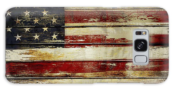 American Flag Galaxy Case