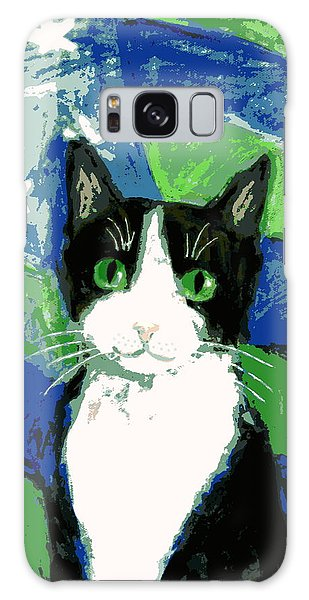 Cat With Stars And Stripes Galaxy Case