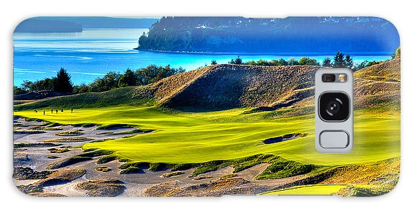#14 At Chambers Bay Golf Course - Location Of The 2015 U.s. Open Tournament Galaxy Case by David Patterson