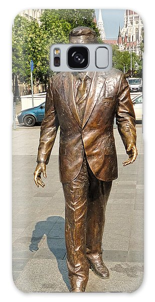 Budapest Hungary - Ronald Reagan Statue Galaxy Case by Gregory Dyer