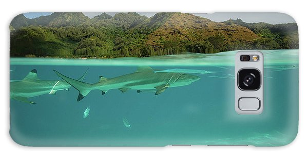 Islands In The Sky Galaxy Case - Over Under, Half Water Half Land by Panoramic Images