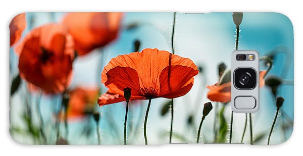 Galaxy Case - Poppy Meadow by Nailia Schwarz