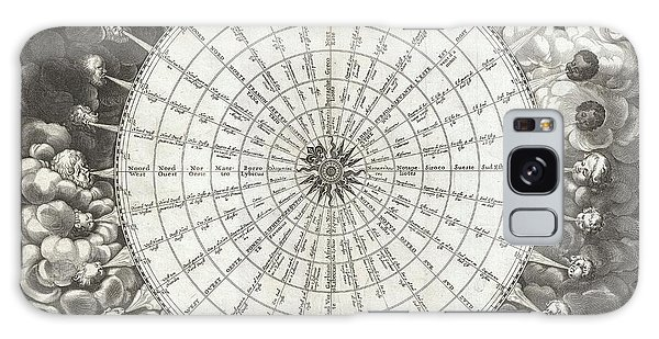 1650 Jansson Wind Rose Anemographic Chart Or Map Of The Winds Galaxy Case by Paul Fearn