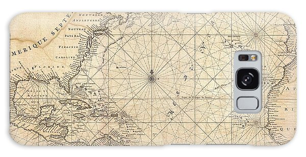 1683 Mortier Map Of North America The West Indies And The Atlantic Ocean  Galaxy Case by Paul Fearn
