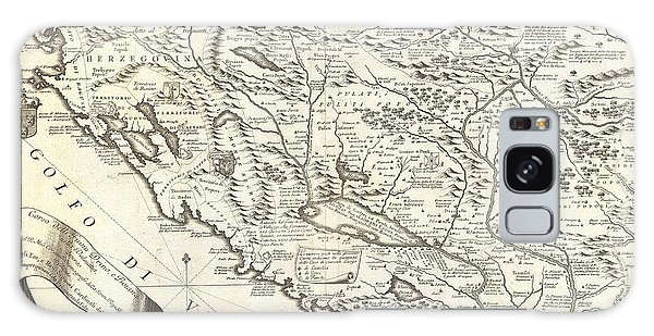 1690 Coronelli Map Of Montenegro Galaxy Case by Paul Fearn