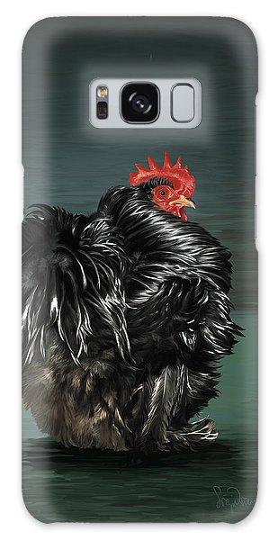 17. Black Frizzle Cochin Bantam Galaxy Case