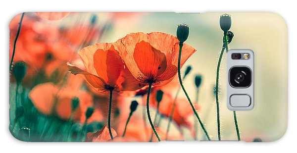 Bright Galaxy Case - Poppy Meadow by Nailia Schwarz