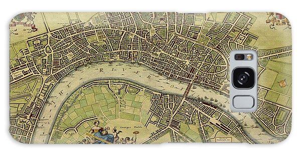 17 Th Century Map Of London England Galaxy Case