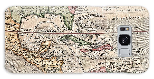 1732 Herman Moll Map Of The West Indies And Caribbean Galaxy Case by Paul Fearn