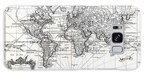 1748 Antique World Map Versuch Von Einer Kurzgefassten Karte  Galaxy Case