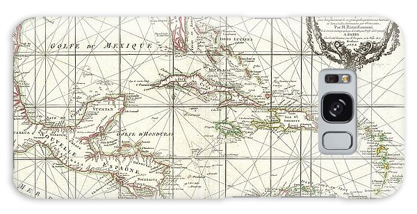 1762 Zannoni Map Of Central America And The West Indies Galaxy Case by Paul Fearn
