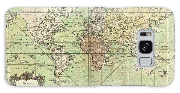 1778 Bellin Nautical Chart Or Map Of The World Galaxy Case by Paul Fearn