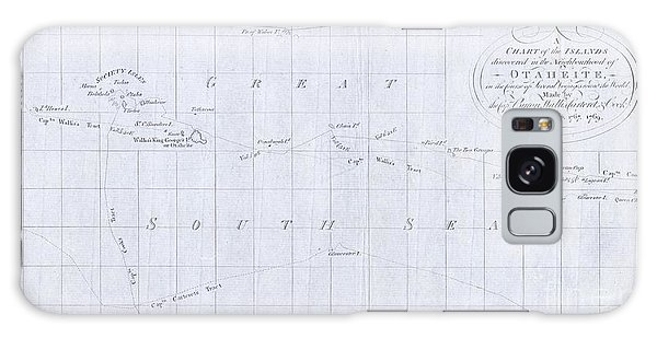 1780 Cook  Hogg Map Of Tahiti  Galaxy Case