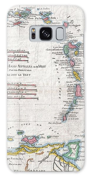 1780 Raynal And Bonne Map Of Antilles Islands Galaxy Case by Paul Fearn