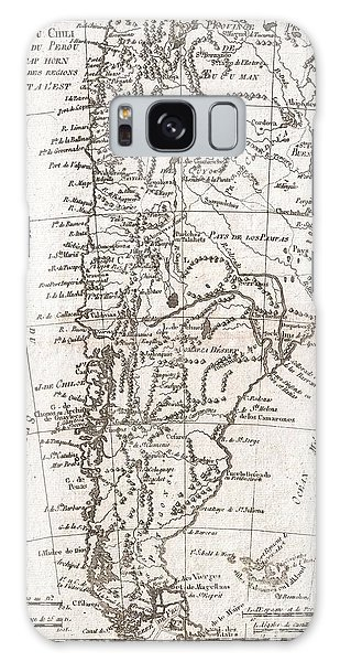 Paper Dress Galaxy Case - 1780 Raynal And Bonne Map Of Chile by Paul Fearn