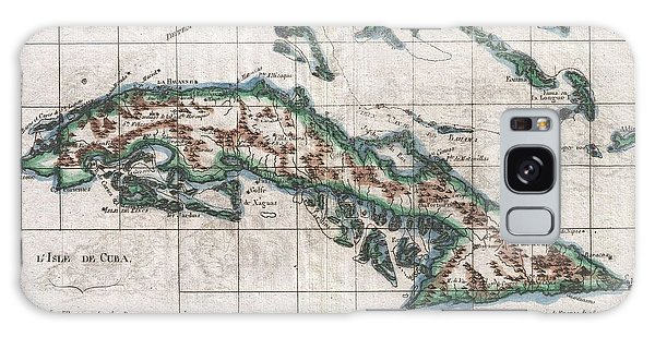 Paper Dress Galaxy Case - 1780 Raynal And Bonne Map Of Cuba West Indies by Paul Fearn