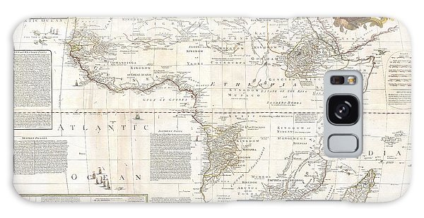 1787 Boulton  Sayer Wall Map Of Africa Galaxy Case by Paul Fearn