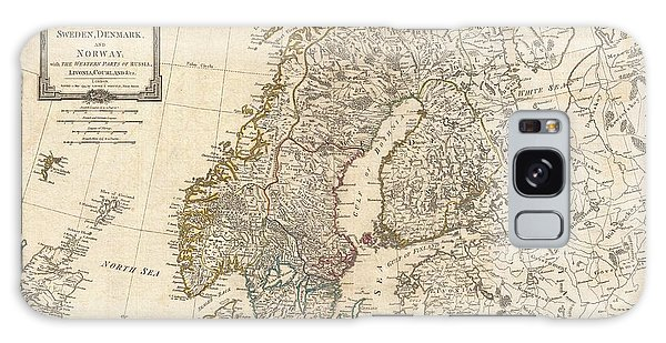 1794 Laurie And Whittle Map Of Norway Sweden Denmark And Finland Galaxy Case by Paul Fearn