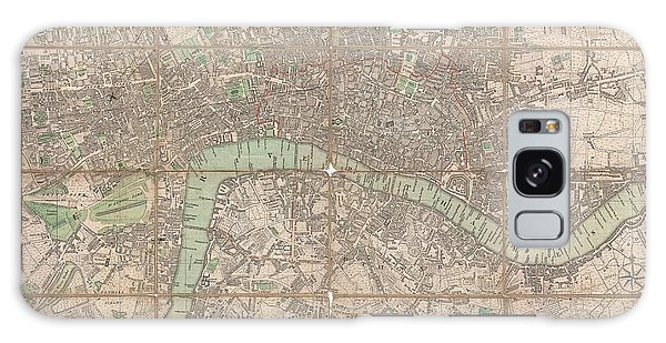 1795 Bowles Pocket Map Of London Galaxy Case by Paul Fearn