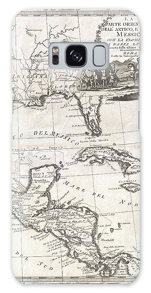 1798 Cassini Map Of Florida Louisiana Cuba And Central America Galaxy Case by Paul Fearn