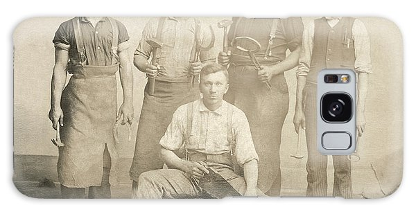 1800's Vintage Photo Of Blacksmiths Galaxy Case by Charles Beeler