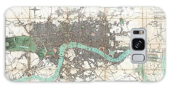 1806 Mogg Pocket Or Case Map Of London Galaxy Case by Paul Fearn