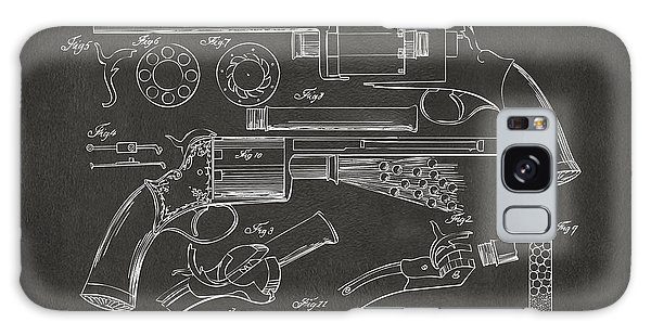 Weapons Galaxy Case - 1856 Lemat Revolver Patent Artwork - Gray by Nikki Marie Smith