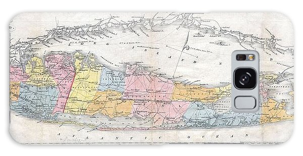 1857 Colton Travellers Map Of Long Island New York Galaxy Case by Paul Fearn