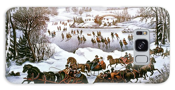 Central America Galaxy Case - 1860s Central Park In Winter - New York by Vintage Images
